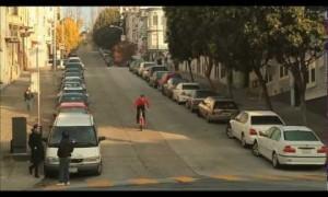 Bmx Rider Danny MacAskill in the Street of San Francisco