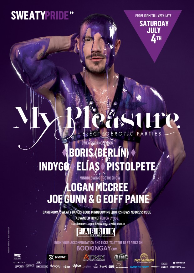 SWEATY PRIDE – MY PLEASURE –  Saturday 4th July