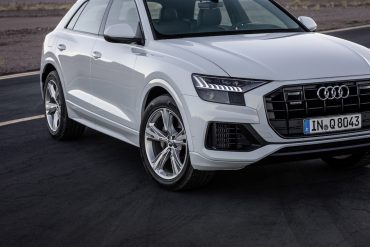 Q8:  It's Audi's new flagship SUV,  a coupe-style roofline!